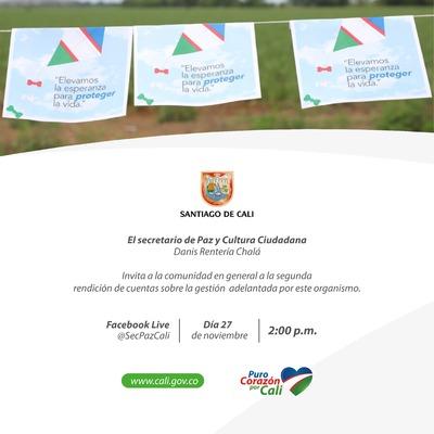 Segunda jornada de Rendición de Cuentas de la Secretaría de Paz y Cultura Ciudadana