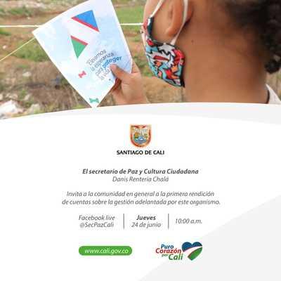 Primera jornada de Rendición de Cuentas 2021 Secretaría de Paz y Cultura Ciudadana