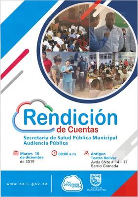 Rendición de Cuentas. Secretaria de Salud Pública Municipal. Audiencia Pública.