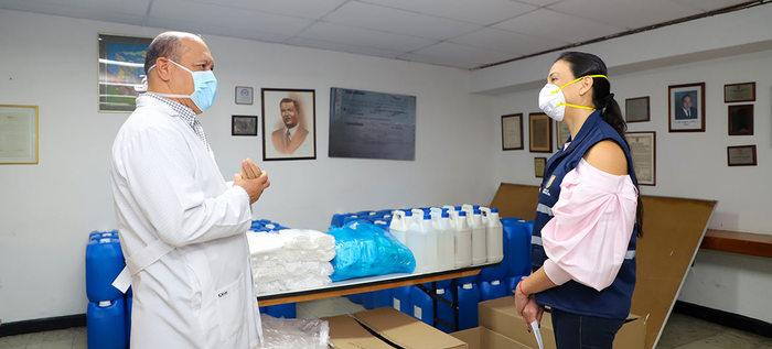 Donaciones bioseguridad para atención adulto mayo