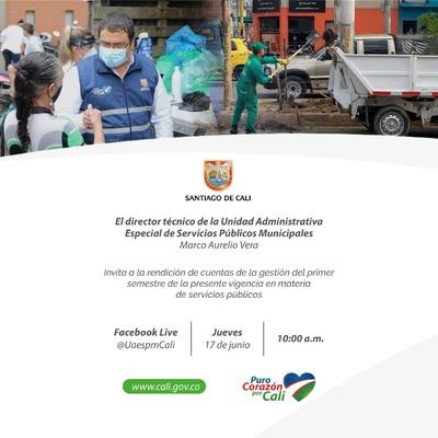 Primera rendición de cuentas Virtual de la Unidad Administrativa Especial de Servicios Públicos Municipales