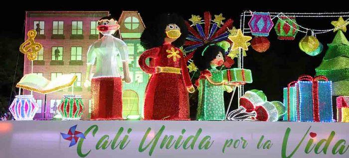 En la tercera noche, el alumbrado navideño visita el oriente de Cali