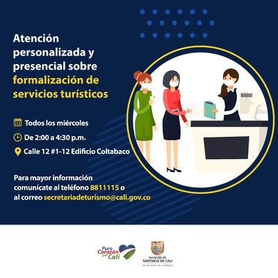 Atención personalizada y presencial sobre formalización de servicios turísticos