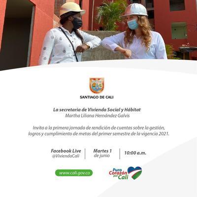 Primera Rendición de Cuentas de la Secretaria de Vivienda Social y Hábitat 2021