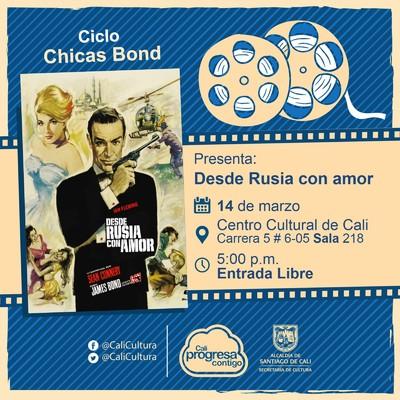 """Ciclo """"Chicas Bond"""" Película: Desde Rusia con amor de Terece Young  Año: 1963 Duración: 115 minutos Reunio Unido"""