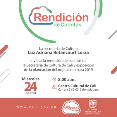 Rendición de Cunetas - Secretaría de Cultura - 2019
