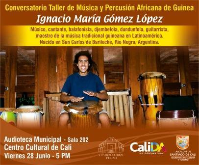 Músico argentino hablará este viernes sobre el folclor del oeste de África: conversatorio-taller en la Audioteca