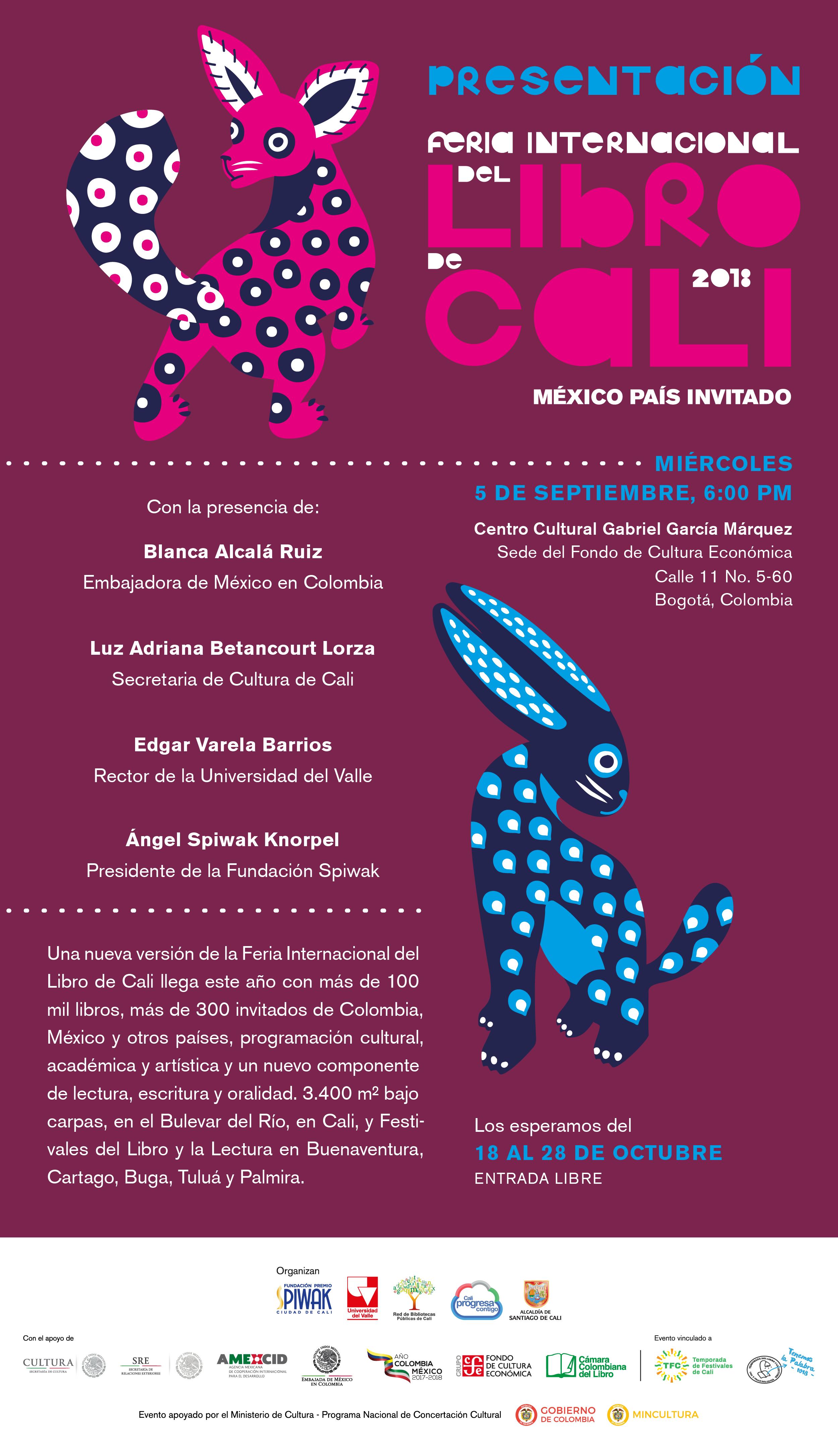 Bogotá se prepara para el lanzamiento de la Feria Internacional del Libro de Cali 2018