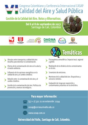VI Congreso Colombiano y Conferencia Internacional CASAP: Calidad del Aire y Salud Pública