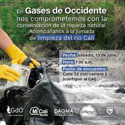 Jornada de limpieza del río Cali con Gases de Occidente