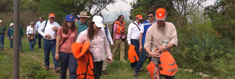 Dagma acompañó recorrido para revisar, junto a expertos internacionales, el estado del río Cauca