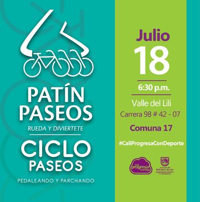Patín y Ciclo Paseos Comuna 17