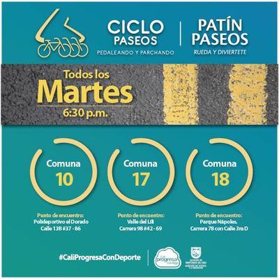 Ciclo y Patín Paseos del dia Martes