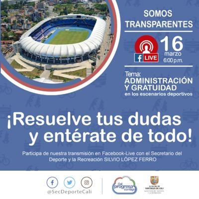 Somos Transparentes - Administración y Gratuidad en los escenarios deportivos