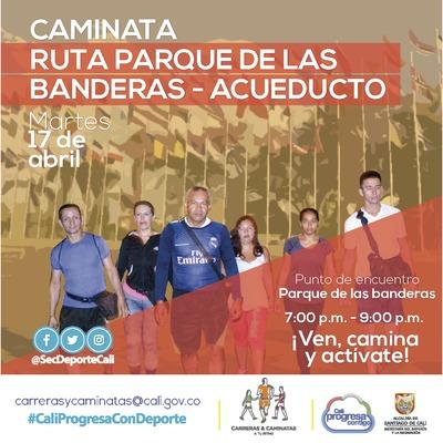 Caminata ruta Parque de Las Bandera - Acueducto