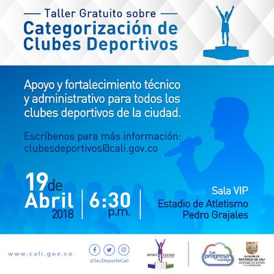 Taller gratuito Categorización de Clubes Deportivos