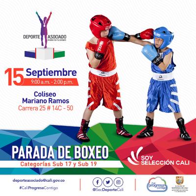 Parada de Boxeo categorías sub 17 y sub 19