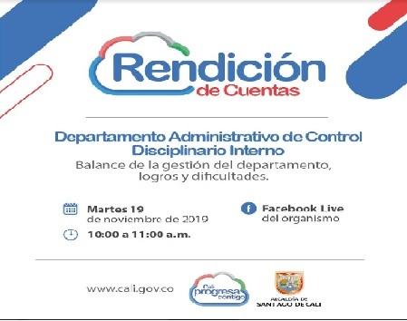 Tercera actividad de diálogo - Rendición de cuentas del Departamento Administrativo de Control Disciplinario Interno.