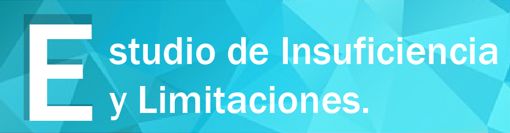 Estudio de Insuficiencia y Limitaciones Cobertura Educativa
