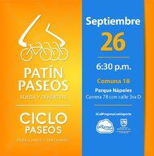 Patín y Ciclo Paseos Comuna 18