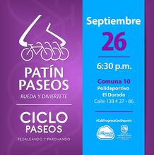 Patín y Ciclo Paseos Comuna 10