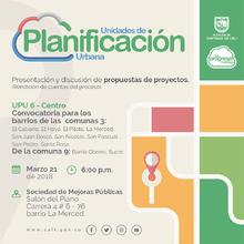 Presentación de propuestas de proyectos para comunas 3 y 9 - UPU 6 (Rendición de Cuentas)