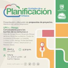 Presentación de propuestas de proyectos para comuna 2- UPU 1 (Rendición de Cuentas)