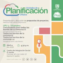 Presentación de propuestas de proyectos para comunas 8, 11 y 12 - UPU 5 (Rendición de Cuentas)