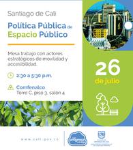 Mesa con actores estratégicos Política Pública de Espacio Público