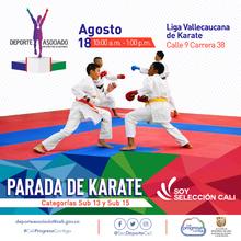 Parada de Karate categorias sub 13 y sub 15