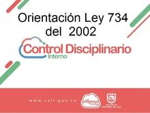 Orientación LEY 734 de 2002