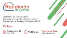 Rendición de cuentas de la Secretaría de Paz y Cultura Ciudadana
