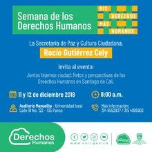 Juntos tejemos ciudad - retos y perspectivas de los DDHH en Santiago de Cali