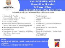 Invitación Casa de Justicia Móvil Institución Educativa Olga Lucia Lloreda