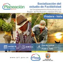 Socialización del estudio de factibilidad de encadenamientos productivos de la ciudad-región en Pradera
