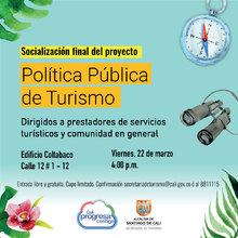 Socialización final del proyecto Política Pública de Turismo