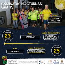 Caminata nocturna ruta Bataclán