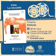 """""""Ciclo La escuela Película: Elefante  de Gus Van Sant Año:2003 Duración: 81 minutos Estados Unidos"""" - Sala 218 – Centro Cultural de Cali"""