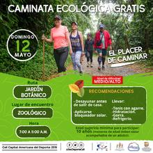 Caminata ecológica ruta Jardín botánico