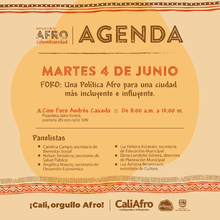 Foro: Una Política Afro para una ciudad más incluyente e influyente.