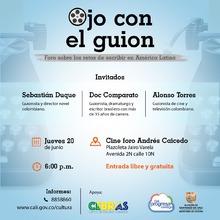 OJO AL GUIÓN - jueves 20 de junio a las 6:00 p.m. en el Cine Foro Andrés Caicedo