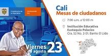 Mesa temática del Gobierno Nacional en la Institución Educativa Eustaquio Palacios