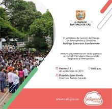 Invitación a participación al  VIII Simulacro Nacional de Respuesta a Emergencias