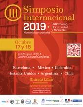 III Simposio Internacional de Patrimonio Documental y Memoria, se realizará el 17 y 18 de octubre