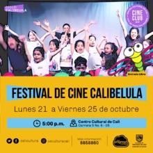 Festival Calibélula - cortos libelulitos - Viernes 25 de octubre - Sala 218 – Centro Cultural de Cali