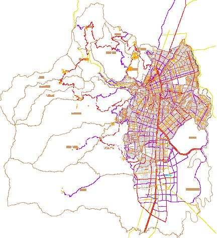 Mapa de Cali en AutoCAD