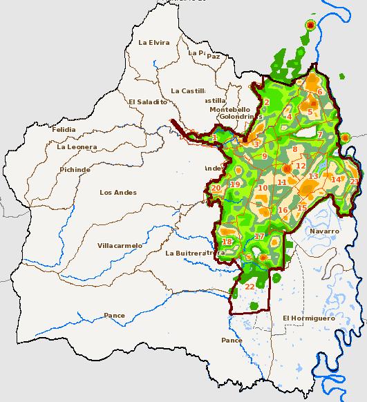Mapa para la identificación y caracterización de Distritos Térmicos