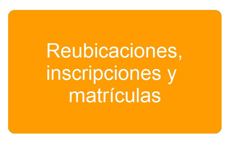 Inscripciones y Matr�culas