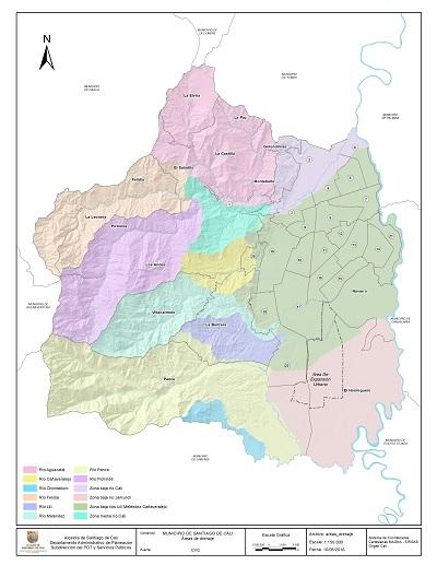 Mapas para el documento Cali en Cifras 2015