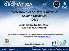 IDESC en la Semana Geomática 2009